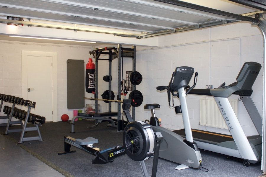 Building a home gym in garage private residence contemporary home